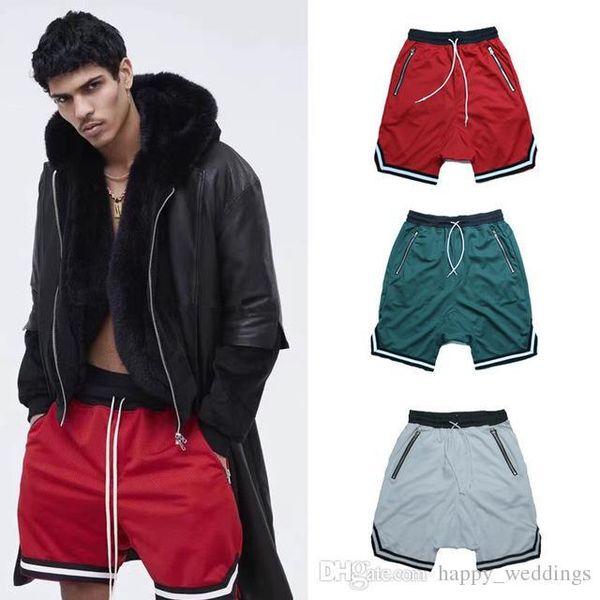 hip hop salle de sport Hipster marque-vêtements Justin Bieber FOG lâche pantalon Kanye West short bande SURDIMENSIONNÉS vert noir blanc rouge