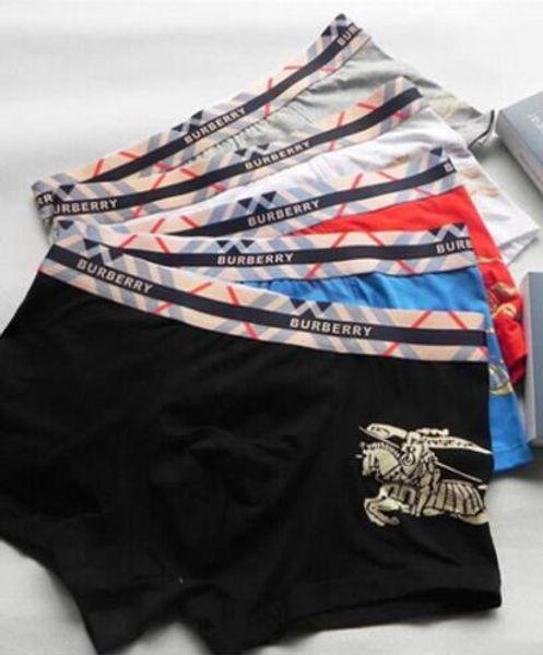 Известные мужские боксерские шорты нижнее белье для мужчин роскошный дизайнер сексуальное нижнее белье повседневная коротышка дышащий мужской гей нижнее белье боксер Homme