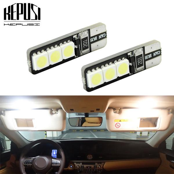 2PCS T10 W5W Canbus LED sin errores 194168 6SMD 5050 Lámpara del panel del automóvil Luz de separación Bombilla de la matrícula 12V Blanco Blanco cálido