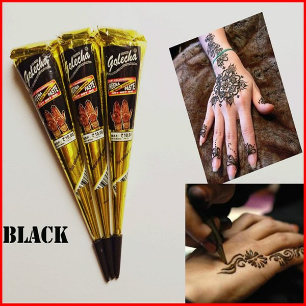 Compre Black Indian Henna Tattoo Paste Body Art Paint Mini Natural Henna Paste For Body Drawing Dibujo Temporal En Body A 072 Del Stszeli