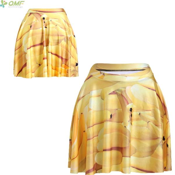 Giallo Bananas Print Novità Skinny Hip Up Up Femme Summer Short Gonne Fashion TuTu Midiskirt Casual Harajuku Mini Skirt