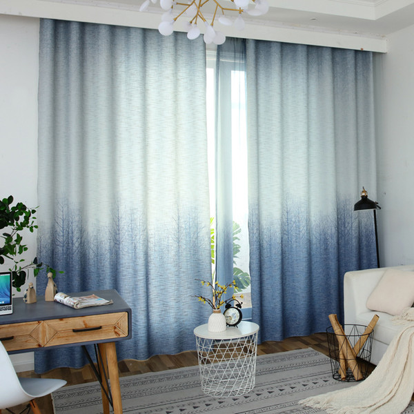 top popular Curtains for Living Room Bedroom Blackout Kitchen Luxury Window 2019 New Gradient Printed Curtain Fabric 2020