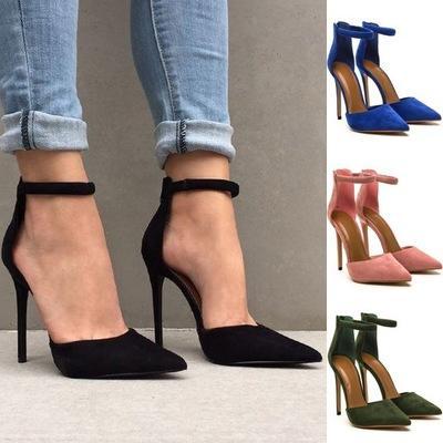 2019 NUEVOS zapatos de tacón alto Moda zapatos puntiagudos Hollow Stiletto Sandalias de tacón alto Zapatos de vestir de mujer Tamaño 35-42