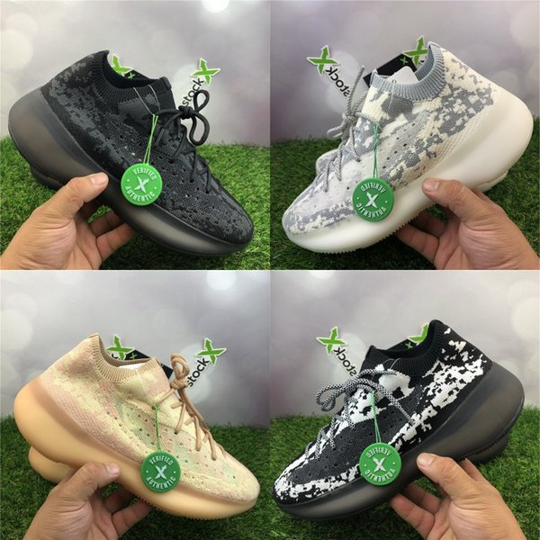 best selling Kanye West 380 Mens Designer Shoes Stockx Alien Clay Beluga Triple Black White Brand Running Sneakers Ourdoor Sport Trainers With Box 36-46