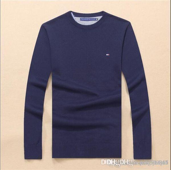Outono e inverno dos homens camisola nova versão coreana base quente malhas dos homens de manga comprida com camisola desgaste dos homens