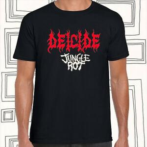 Deicide Band Jungle Root Logo Uomo 039 s BlaSummer T Shirt Taglia S M L