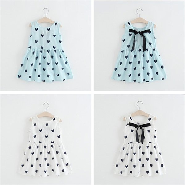Baby girls dresses 2 colors Sleeveless Backless Crocheted Pattern Princess Party dress kids designer clothes girls JY33