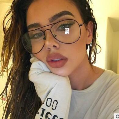Women Men Clear Lens Glasses Metal Plain Glass Spectacles Frame Classic Glasses Metal Spectacle Frame Oversize Vintage Eyewear
