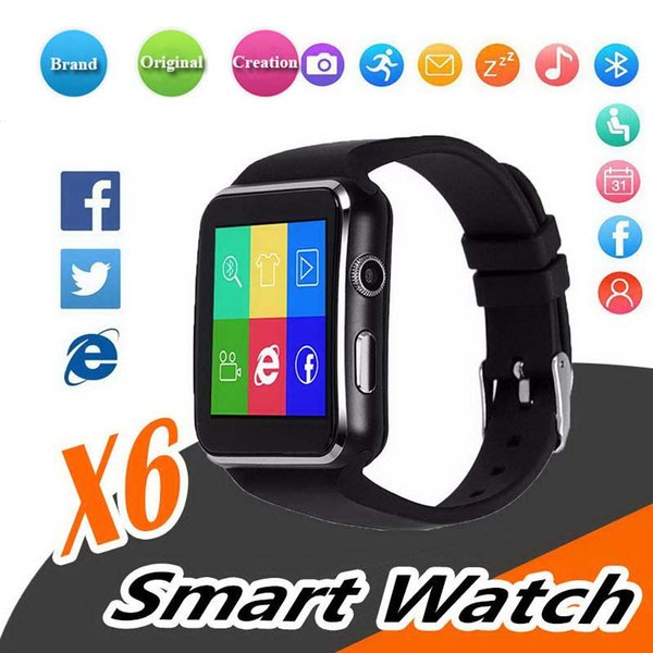 Curved Screen X6 Smart Watch Bracelet Phone With SIM TF Card Slot Smartwatch With Camera For LG Samsung Sony All Android Mobile Phone