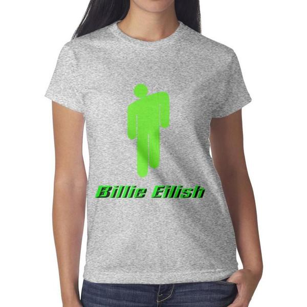 Billie Eilish Damen Top Classic Sport Bulk T Shirt Design Rundhals Shirts Damen Schwarz T Shirt