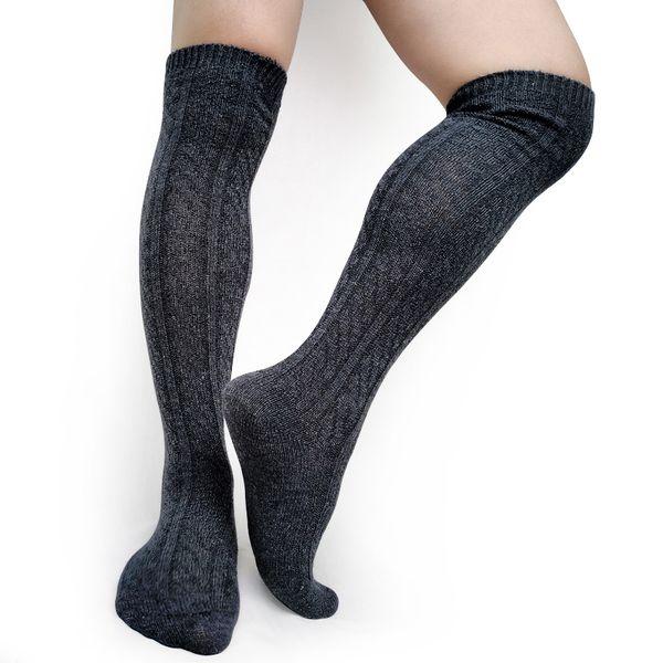 Grosor Hombres de invierno Calcetines formales Stocking sobre la rodilla Estilo de moda Sexy Hombre Calcetines largos para el hombre de negocios