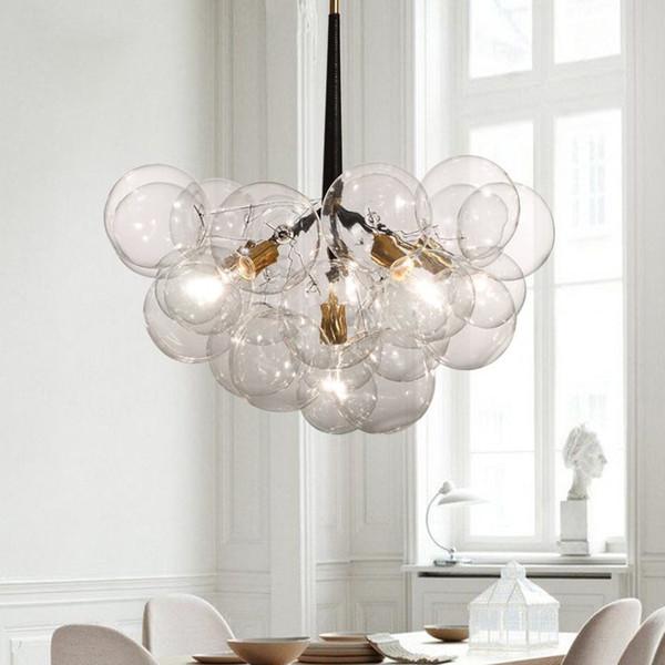 9 /12 /20 Bubbles Modern Art Molecular Glass Chandelier Fashion Designer  Dinner Bedroom Kitchen Led Hanging Light Fixtures Drum Pendant Pendant  Lights ...