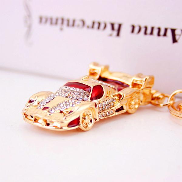 MH Creative new car car keychain cute color small racing key chain bag pendant