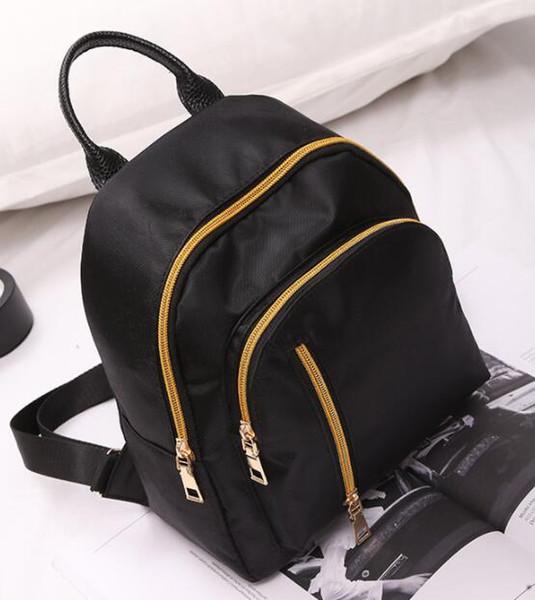 Verão novo saco de ombro feminino pano de nylon pequena mochila 01