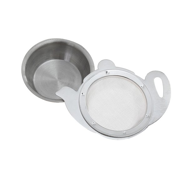 100 pcs Tea Strainer with Handle Mesh Infuser Container Holder for Teapot Mugs Cups Stainless Steel Loose Tea Brewing Tools