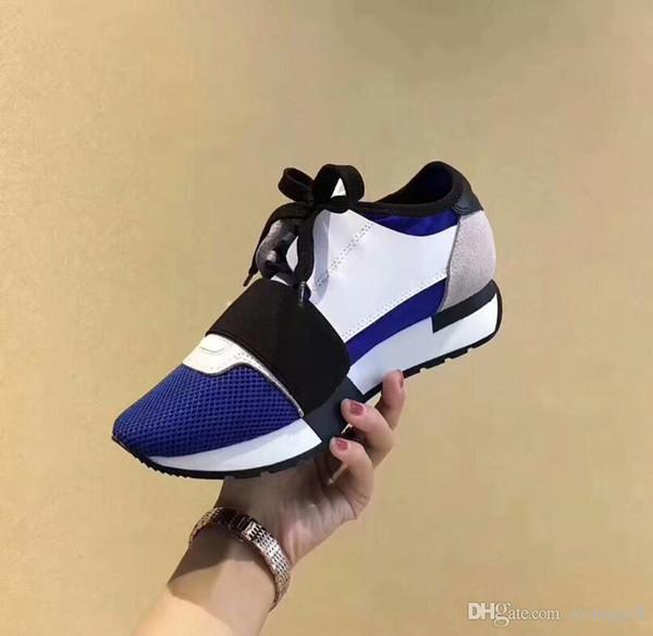 Novità Scatola di scarpe originale DESIGNER SNEAKERS DESIGNER SCARPE MENS CASUAL SHOES DONNA SPORT MARCA RUNNERS FASHION FLATS RACER LUXURY SNEAKERS
