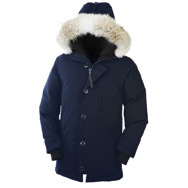 DHLCanada Warm Chateau Parka Fur Hooded Thick Winter Men Goose Down Jacket for Canada Male Overcoat Man Outwear Parka E06