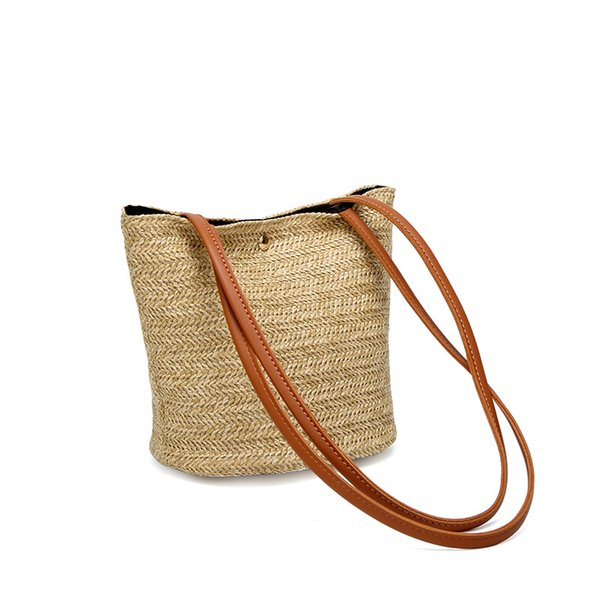 2018 Designer Women's Handmade Small Totes Straw Bag Natural Fashionable Handbag Beach Shoulder Bags Brand New Dropshipping
