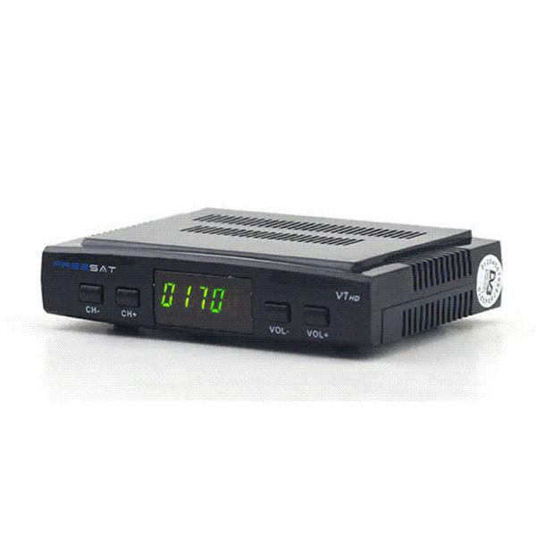 Freesat Receptor de TV satelital decodificador Freesat V7 HD DVB-S2 + USB Wfi con 7 líneas Europa C-line cuenta soporte powervu Receptor