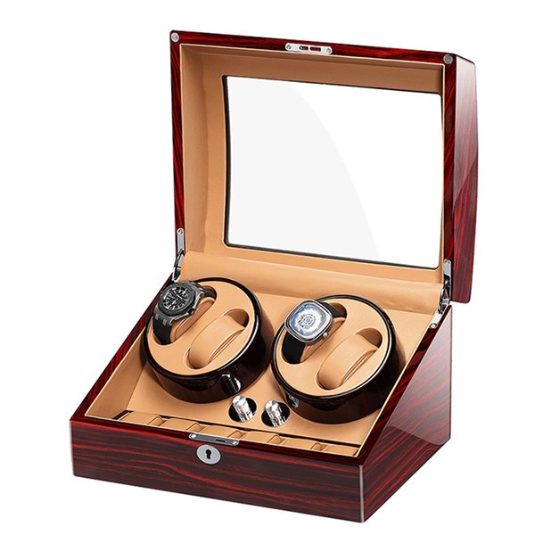 4 + 6 Avvolgitore automatico per orologi di lusso in legno di lusso in mabuchi