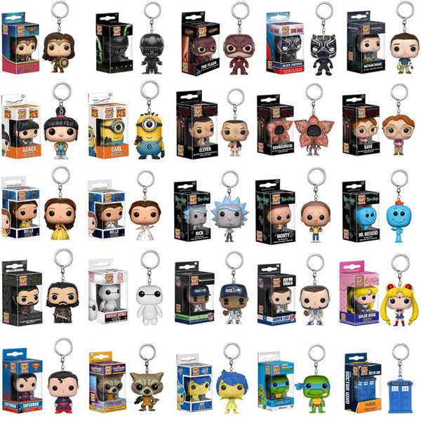 Funko POP Marvel Super The Avengers Hero Harley Quinn Deadpool Harry Potter Goku Spiderman Joker Game of Thrones Figurines Toy Keychain