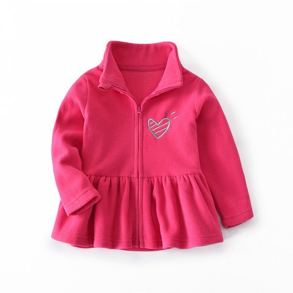 quality 2019 stylish baby girls coats children girls cartoon heart printing outerwear spring baby girl coat jackets coat