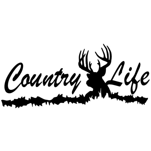 15*6.5cm country life deer truck skull hunting tree car rack decal window sticker vinyl car accessories thumbnail