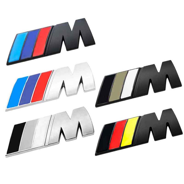 best selling DHL FREE 8.3cm*3.1cm Large Car Sticker    M Power Emblem Badge Decals Stickers For BMW e36 e39 e46 e60 e87 e92 e30 f10 f20