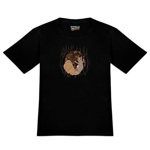Écureuil protégeant ses écrous T-shirt de nouveauté pour homme vêtements en jean camiseta t-shirt