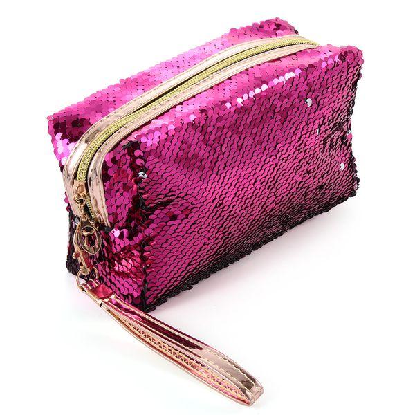 New Fashion Women's Mermaid Sequins Makeup Bag Handbag Pouch Girls Glitter Cosmetic Bags Sequins Travel Storage Zipper