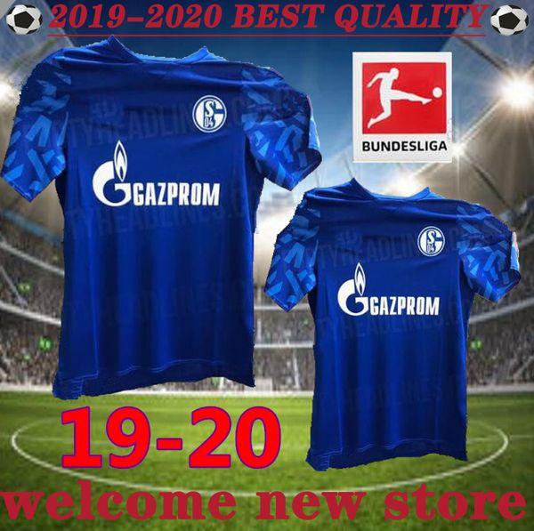 new 19 20 Schalke 04 soccer jerseys 2019 2020 McKennie Caligiuri Embolo BURGSTALLER Uth Serdar Bentaleb Schalke football shirts