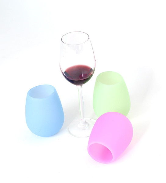 Rubber Wine Glass colorful Unbreakable Clear silica gel Water Cup silicone wine glass Red wine glasses