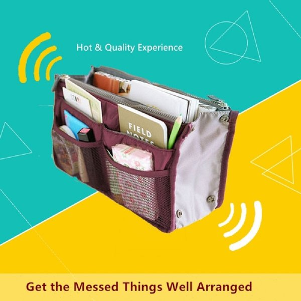 Handbag Organizer Inner Pouch Purse within Purse Boy Girl Travel Purse Pocket Slim Bag in Bag Large Changing Insert for Handbags Ladies Men