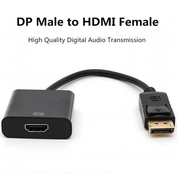 Conector Displaypot DP de alta calidad macho a HDMI Adaptador de cable de video para PC portátil Macbbok HDTV