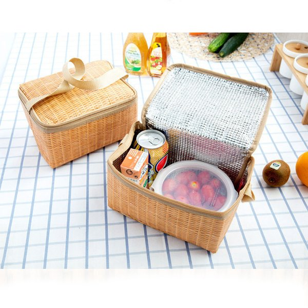 xiniu 2018 new lunch bag food picnic bags for women children Portable Insulated Thermal Cooler Lunch Box Tote Storage Bag Picnic D19010902