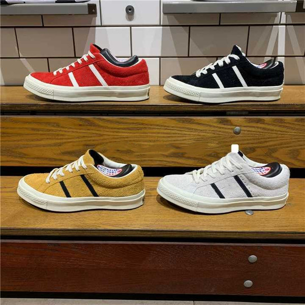 2019 Chegam Novas Originais Clássico 1970 Skate Canvas Shoes JACK ESTRELA STARBARS J SUEDE Skate Esportes Sneakers Vintage Sapatos Vulcanizados
