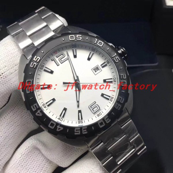 Steel strap (white dial)