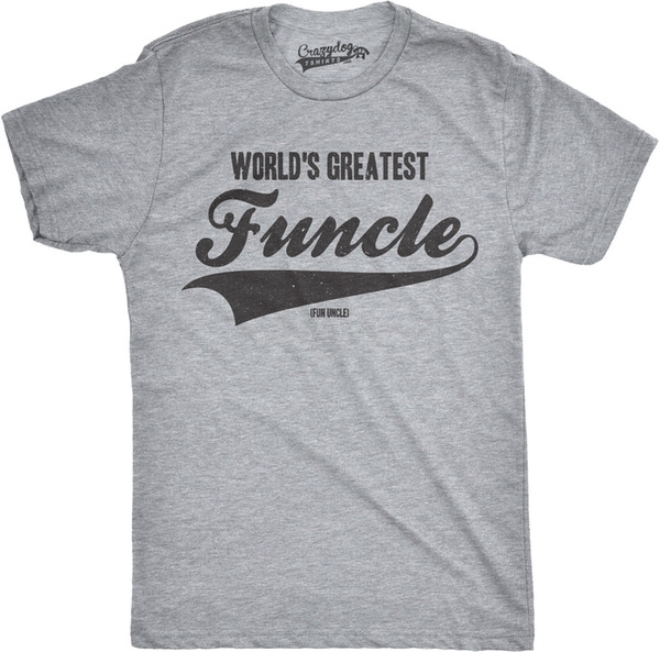 Mens Worlds Greatest Funcle Funny Fun Uncle Family Relationship T shirt Size Discout Hot New Tshirt Cattt Windbreaker Pug Tshirt