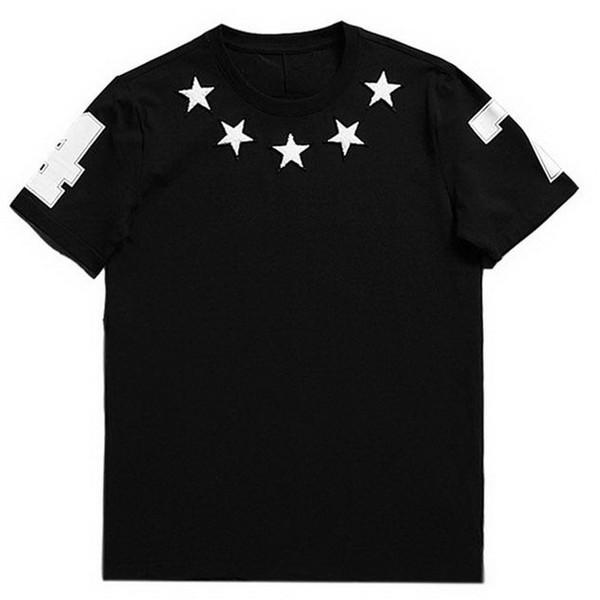 47 White Star Applique Black B63