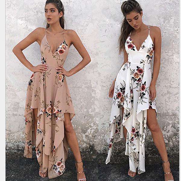 Kadınlar Için Elbise Sahil Tatil Elbise Plaj Straplez Düzensiz Parti Bayan Giyim Moda Kadın Vestidos