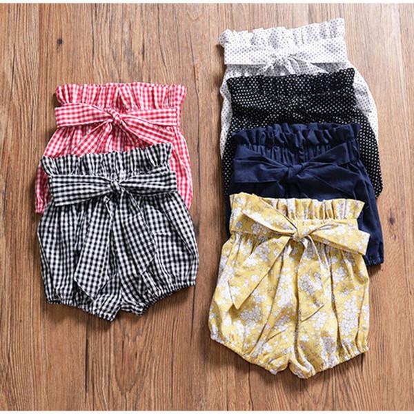 top popular Casual Newborn Infant Baby Boy Girl Kids Pants Shorts Bottoms PP Bloomer Panties 2021