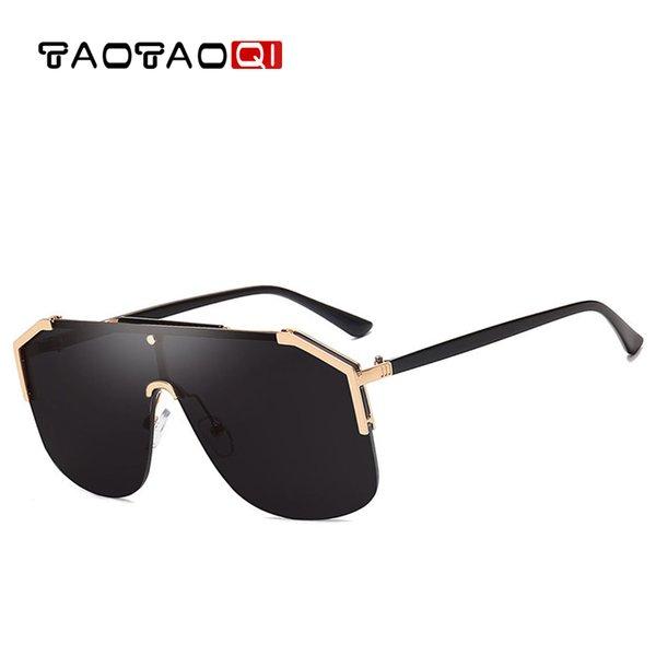 Квадратные Негабаритные Солнцезащитные Очки Женские Плоские Верхние Солнцезащитные очки Мужчины Vintage Big Frame Квадратные Очки UV400