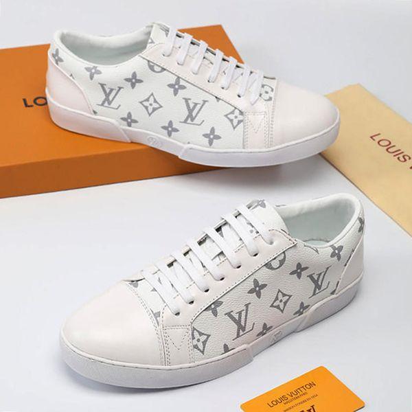 Mens Shoes Casual Flats Zapatos de Hombre 2019 Fashion Breathable Walking Simple Life Men Shoes Leather Big Size M#53 Scarpe da uomo