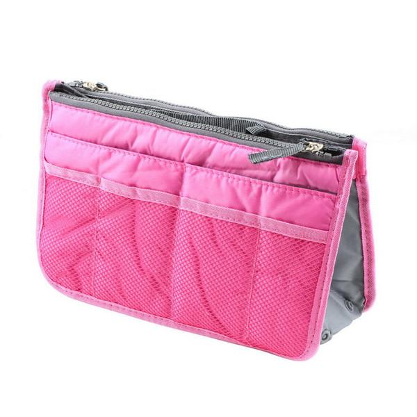 Women Lady Organizer Organiser Travel Bag Purse Handbag Insert Large Tidy Makeup 3 Color