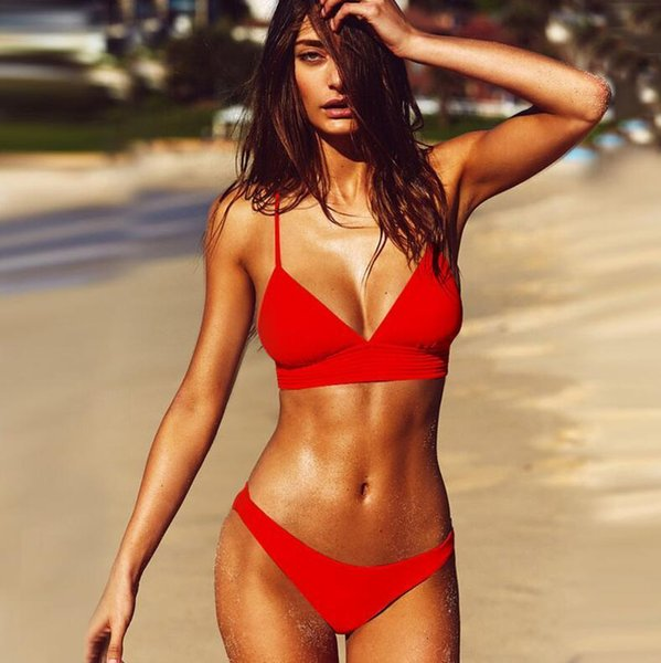 red sexy bikini