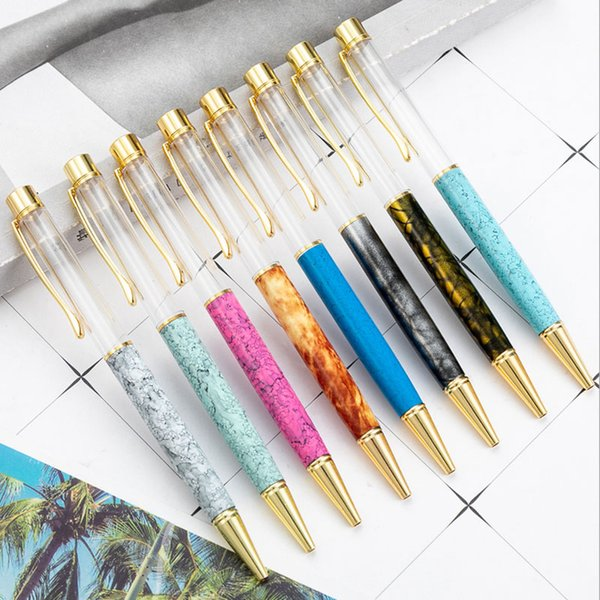 DIY vacío barril regalo bolígrafo tinta negra especialmente pluma de lujo para oficina Escuela de negocios envío gratis