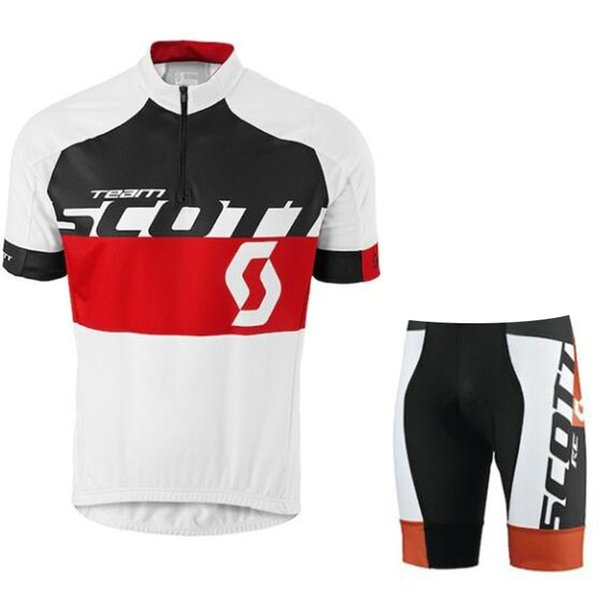 Triathlon Scott pro team Cycling Short Sleeves jersey shorts sets Breathable Quick Dry Polyester Outdoor sportswear Quality summer mens set