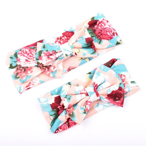 5set/lot roses baby girl headband matching headbands mommy me headbands mother daughter matching outfits mom daughter
