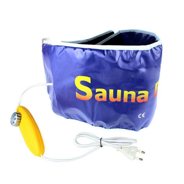 Fast Weight Lose Sauna Heating Waist Belt Tummy Tuck Shapewear Lumber Brace Support Slimming Diet Fat Burning body wrap warmer Y181122