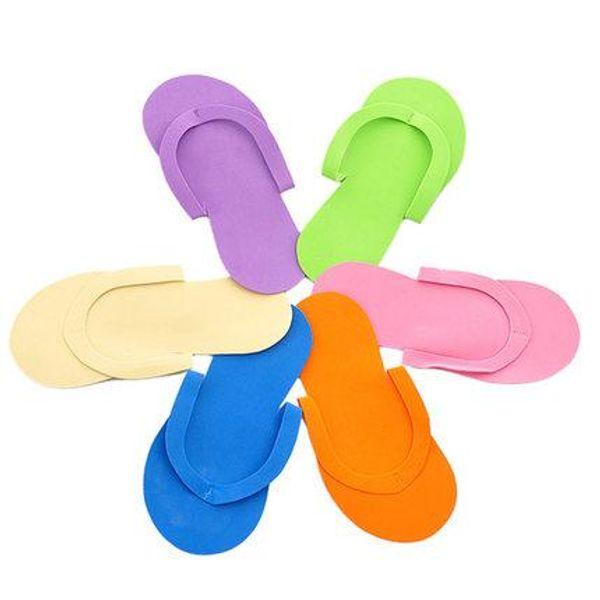 Pantofole monouso della pantofola della stazione termale della schiuma del salone / pantofola eliminabile all'ingrosso-libero di trasporto 100pcs / lot Pantofole della pantofola / pantofola monouso di bellezza / pantofola di bellezza